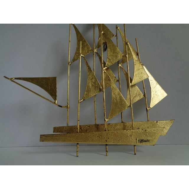 Mid-Century Ship Sculpture by Bowie - Image 4 of 6