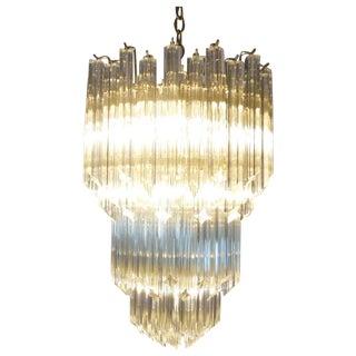 Venini Vintage 8 Tiers Glass Chandelier