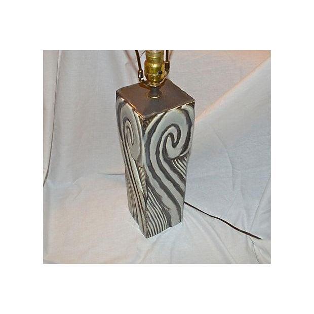 Gray Swirl Mid-Century Table Lamp - Image 8 of 11