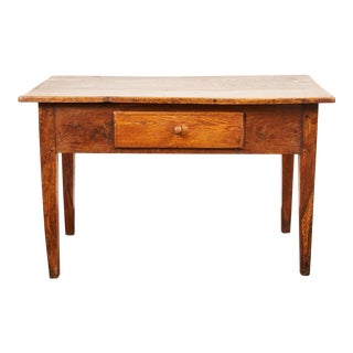 Late 18th Century British Oak Single Drawer Table