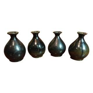 Vintage Stoneware Sake Bottles - Set of 4