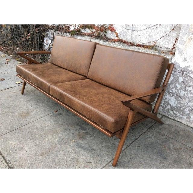 mid century style z sofa chairish. Black Bedroom Furniture Sets. Home Design Ideas