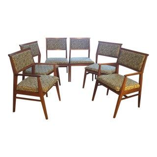 Mid-Century Modern Reupholstered Dining Chairs - Set of 6