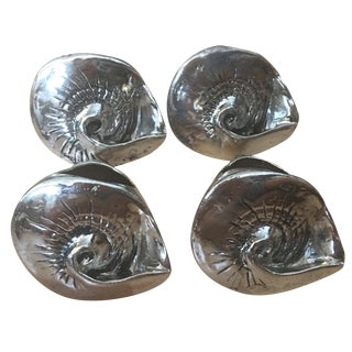 Silver Seashell Napkin Rings - Set of 4