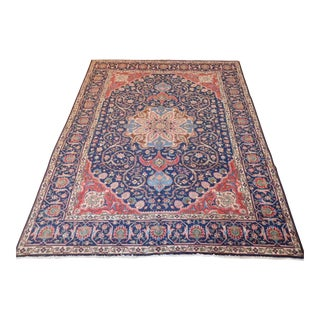 Semi Antique Persian Tabriz Rug - 8 X 11