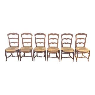 Rush Seat Chairs - Set of 6