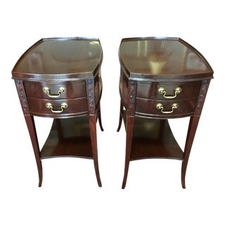 Restored Mahogany End Tables - A Pair