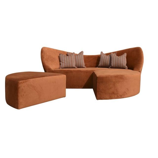 Rust Orange 3 Piece Modular Sofa Bed Chairish