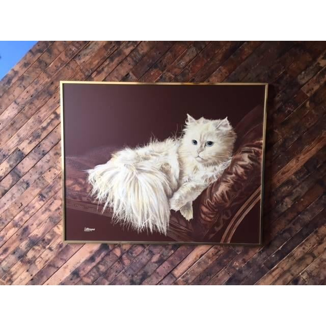 Image of Vintage Large Cat Painting by Letterman