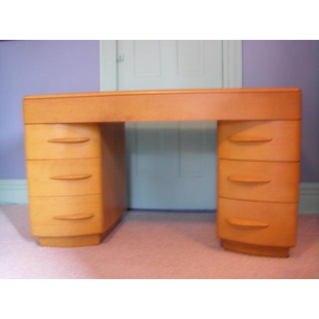 Heywood Wakefield Keyhole Desk & Chair - Image 2 of 11