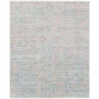 "Pasargad Transitional Silk & Wool Rug- 7'11"" X 9' 9"""