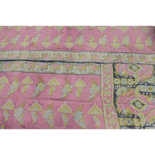 Image of Vintage Pastel Kantha Throw