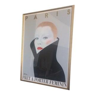 """""""Pret a Porter Feminin"""" Framed Poster"""