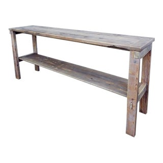 Cottage Reclaimed Wood Rustic Distressed Console by Darvo