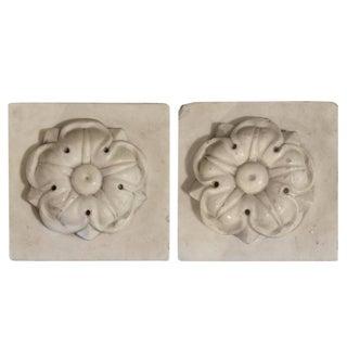 Pair of Carved Marble Plinths
