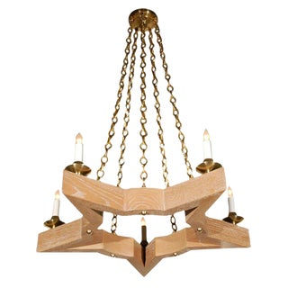 Paul Marra Star Chandelier in Oak