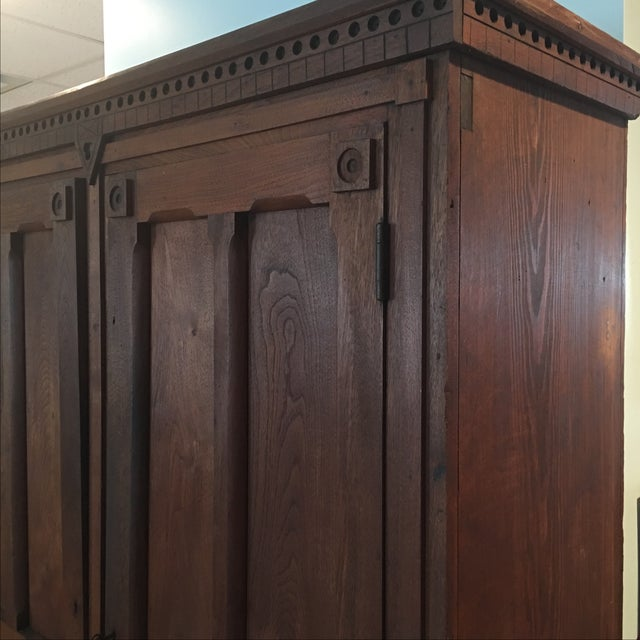 Antique 1800s Walnut Wardrobe Armoire - Image 4 of 7