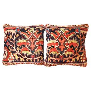 Antique Heriz Pillows - a Pair