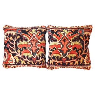 Antique Heriz Pillows - a Pair