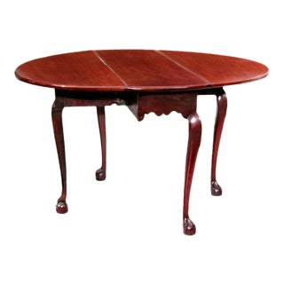 Chippendale Mahogany Oval Drop Leaf Table