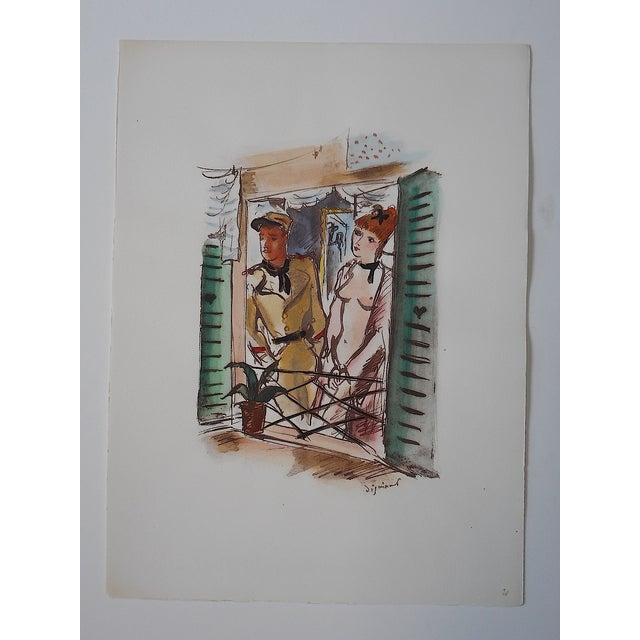Dignimont Mid 20th C. Lithograph - Image 2 of 4