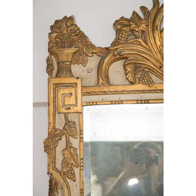 Louis XVI Style Parcel-Gilt and Cream-Painted Wall Mirror - Image 7 of 8