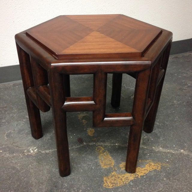 New Bamboo Hexagon Side Table - Image 2 of 10