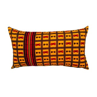 Sample Sale|Wax Print Lumbar Pillow