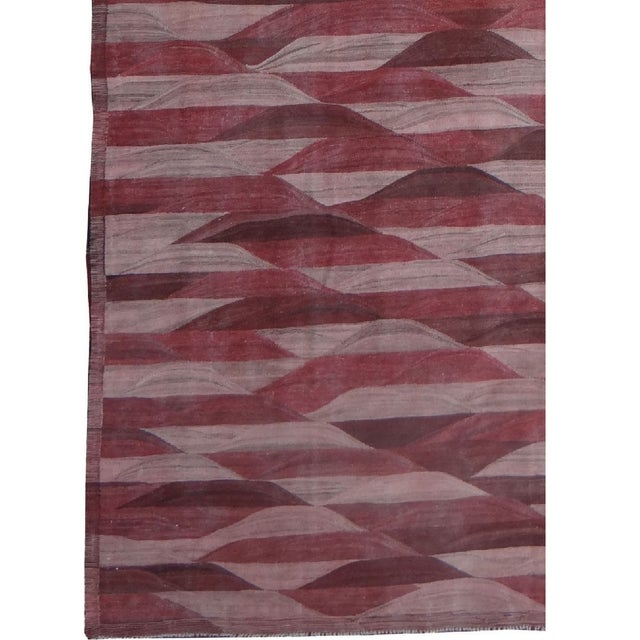 "Hand Knotted Modern Kilim by Aara Rugs Inc. - 13'3"" X 9'11"" - Image 3 of 4"