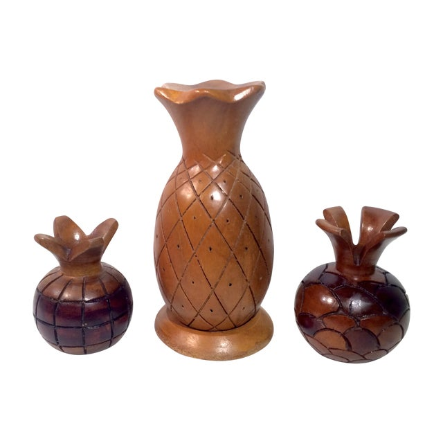 Image of Collected Carved Pineapples- Set of 3
