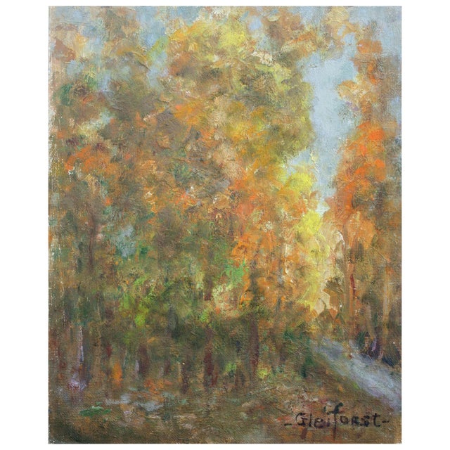 Trees in Fall by Helen Gleiforst - Image 1 of 2