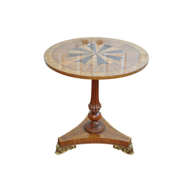 Image of Maitland Smith Inlaid Occasional Table