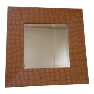 Mid-Century Leather Wall Mirror