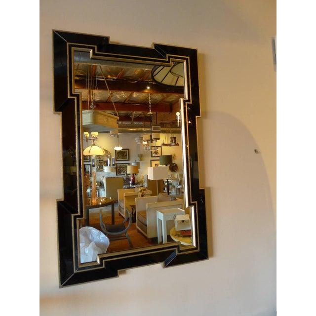Paul Marra Design Greek Key Mirror with Black Mirror Border - Image 3 of 5