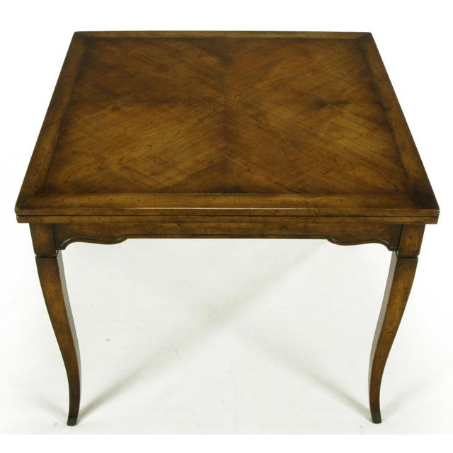 Old Colony Furniture Walnut Flip Top Games Table - Image 5 of 10