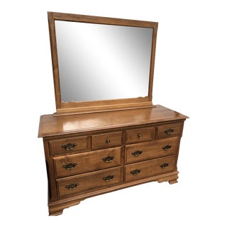 Heywood Wakefield Early American Maple Dresser & Mirror