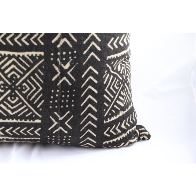 Vintage Black African Print Mudcloth Pillow