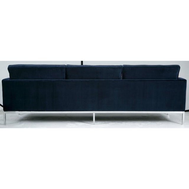 Image of Florence Knoll Sofa in Navy Velvet