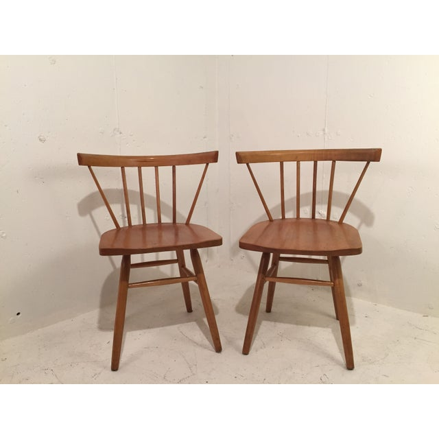 Image of Petite Nakashima Style Chairs - A Pair
