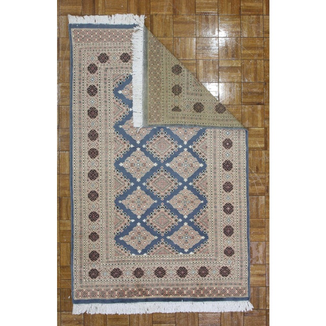 RugsinDallas Hand Knotted Wool & Silk Bokhara Rug - 3′11″ × 6′1″ - Image 3 of 3
