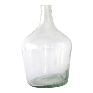 Vintage Clear Glass Oil Bottle