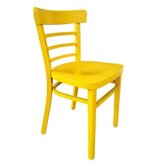 Vintage Cafe Chair in Yellow