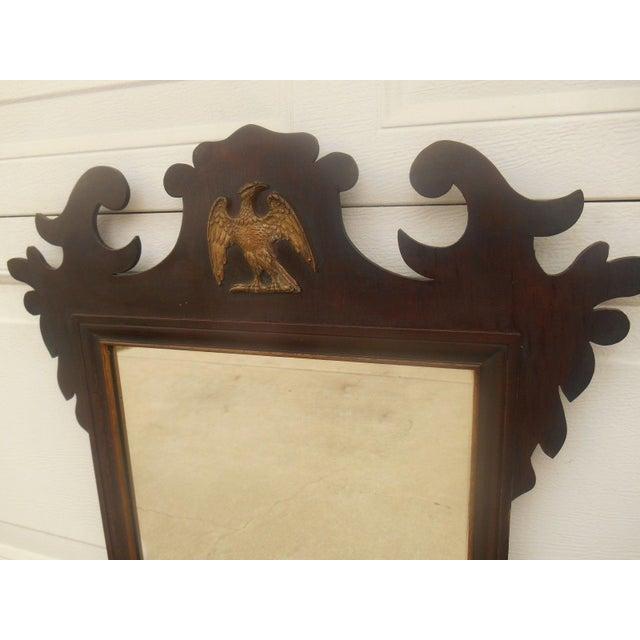 Image of Antique Large Federal Eagle Crest Gold Gilt Mirror
