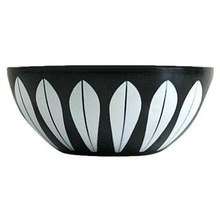 Cathrineholm Black & White Enamel Lotus Bowl