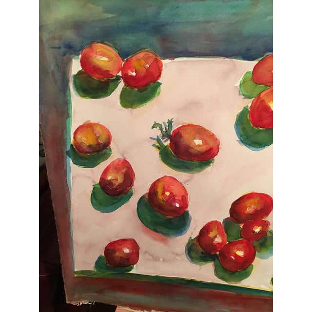 "Original ""Tomatoes"" Watercolor Painting - Image 3 of 7"