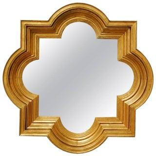Mid-Century Italian Gold Leaf Quatrefoil Mirror