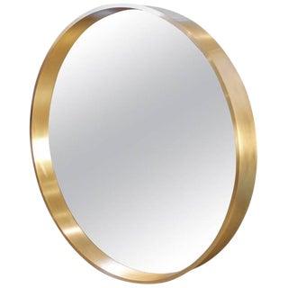 "Large Round ""Oculus"" Mirror in Solid Bronze"