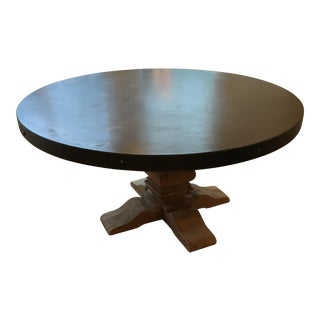 RH Salvaged Wood & Concrete Round Table