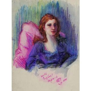 Oil Pastel Portrait Study, 1931