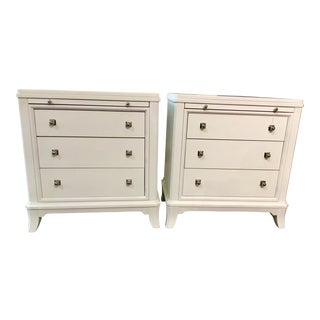 Thomasville White Nightstands - A Pair